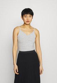 Anna Field - 5 PACK - Top - black/white/mottled light grey - 3