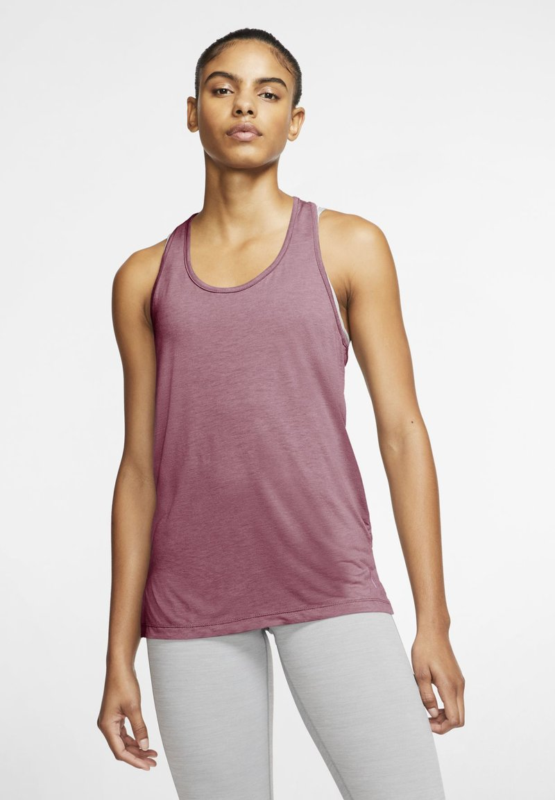 Nike Performance - YOGA LAYER TANK - Sports shirt - desert berry