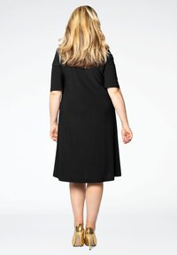 Yoek - SHORT SLEEVE - Shirt dress - black - 2