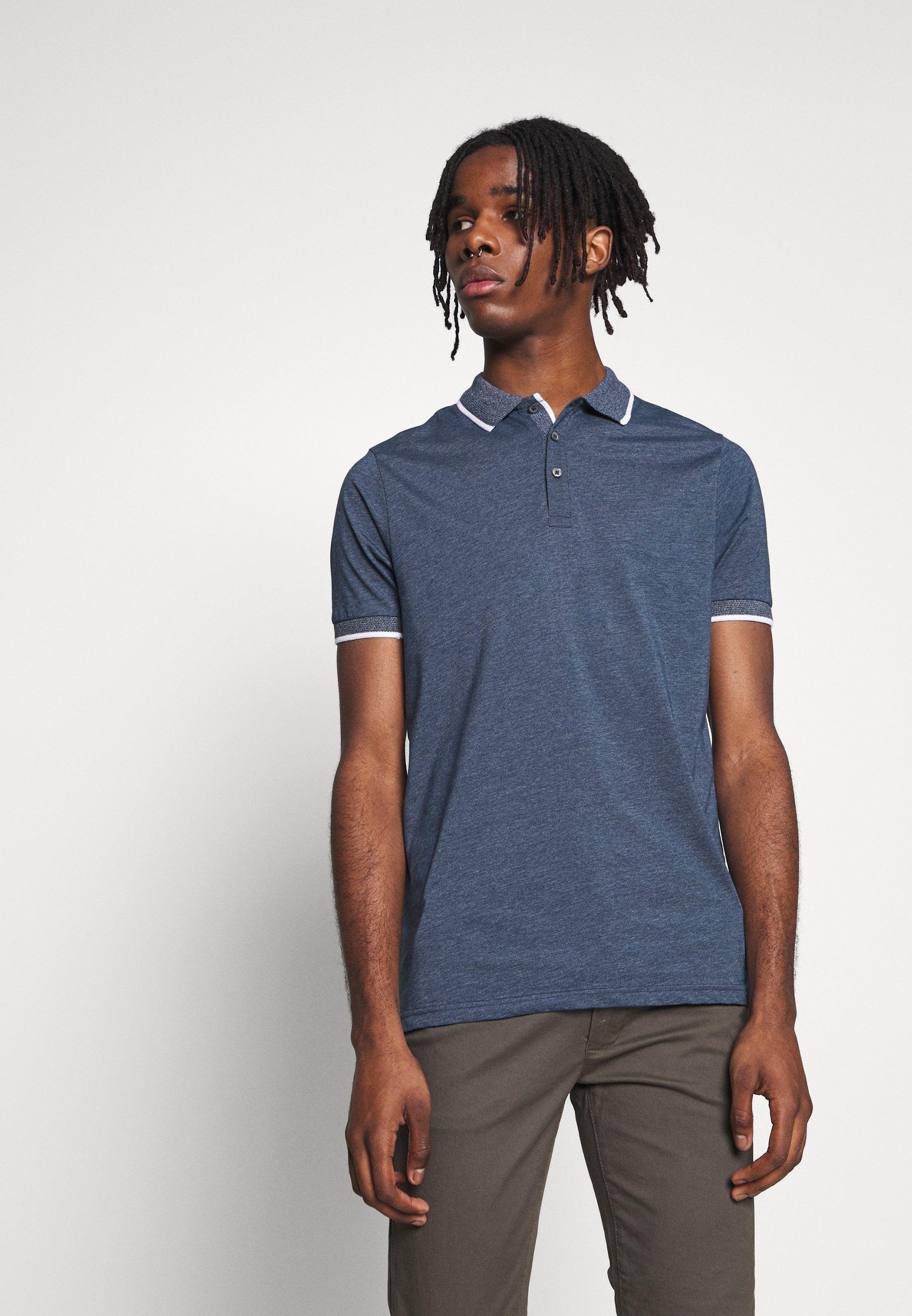 Burton Menswear London 2 Pack TIPPED  - Poloskjorter - blue