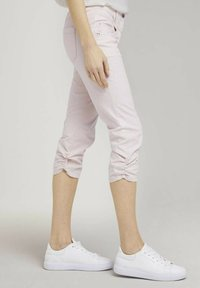 TOM TAILOR - Trousers - beige thin stripe - 3