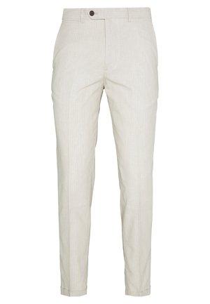 LINEN MIXED FIBER SUIT PANTS - Suit trousers - string