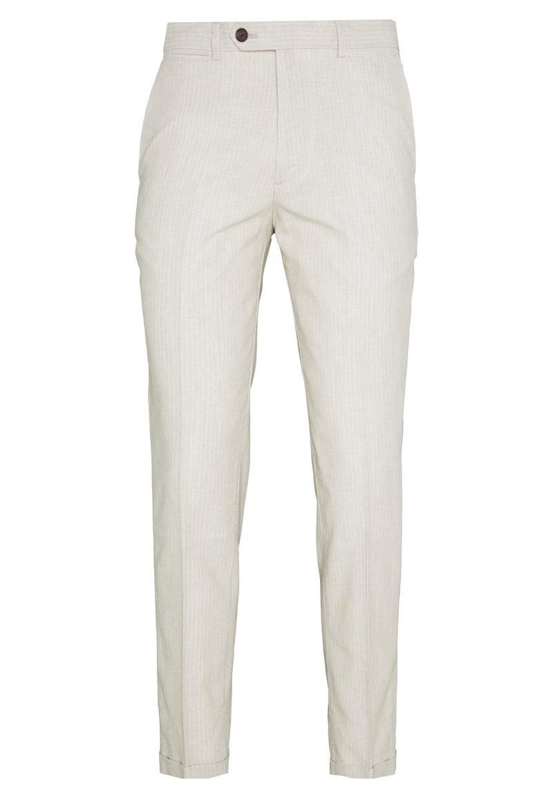 Jack & Jones - LINEN MIXED FIBER SUIT PANTS - Suit trousers - string