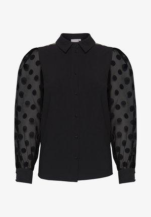 FRNABURN - Button-down blouse - black