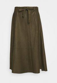 DEPECHE - A SKIRT BELT - Áčková sukně - green - 0