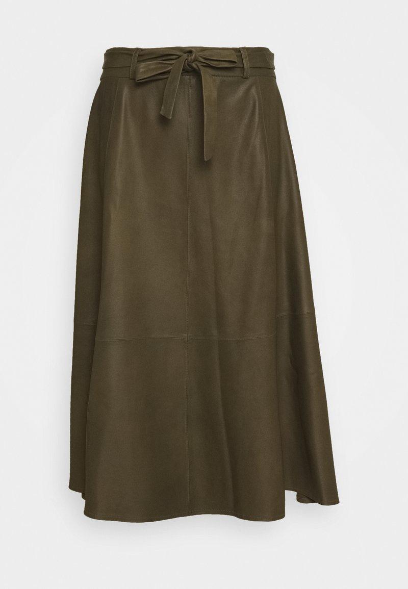 DEPECHE - A SKIRT BELT - Áčková sukně - green
