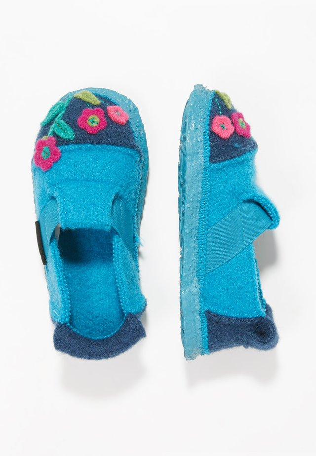 LITTLE FLOWERS - Slippers - turquoise