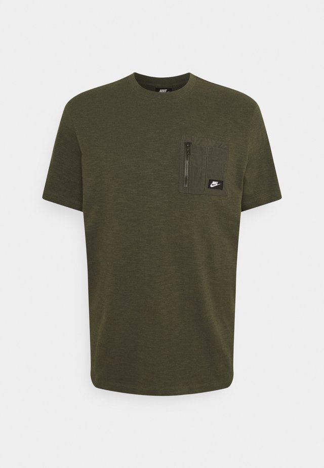 Basic T-shirt - cargo khaki/cargo khaki/black oxidized
