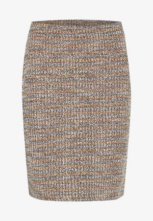Pencil skirt - dusty blue boucle mix