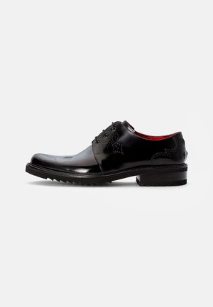 CORLEONE SKULL DERBY - Zapatos de vestir - college black/silver skull