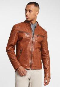 Gipsy - ARNY STUV - Leather jacket - cognac - 0