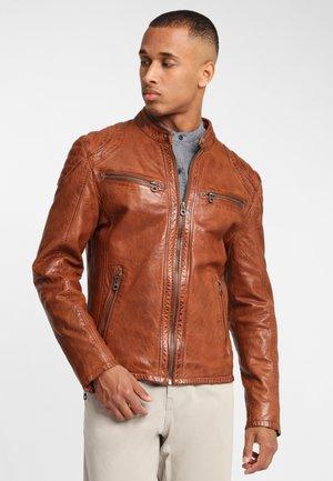 ARNY STUV - Leather jacket - cognac