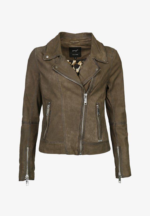 ROMIE - Leather jacket - olive