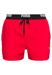 Puma - SWIM MEN LOGO SHORT LENGTH - Swimming shorts - red - 0