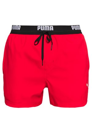 SWIM MEN LOGO SHORT LENGTH - Swimming shorts - red