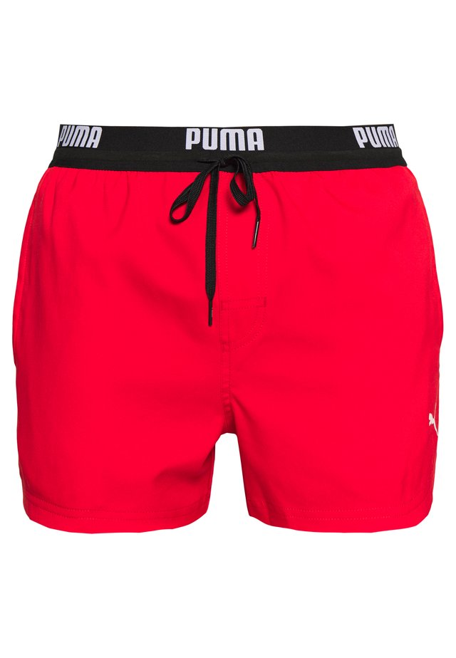 SWIM MEN LOGO SHORT LENGTH - Short de bain - red