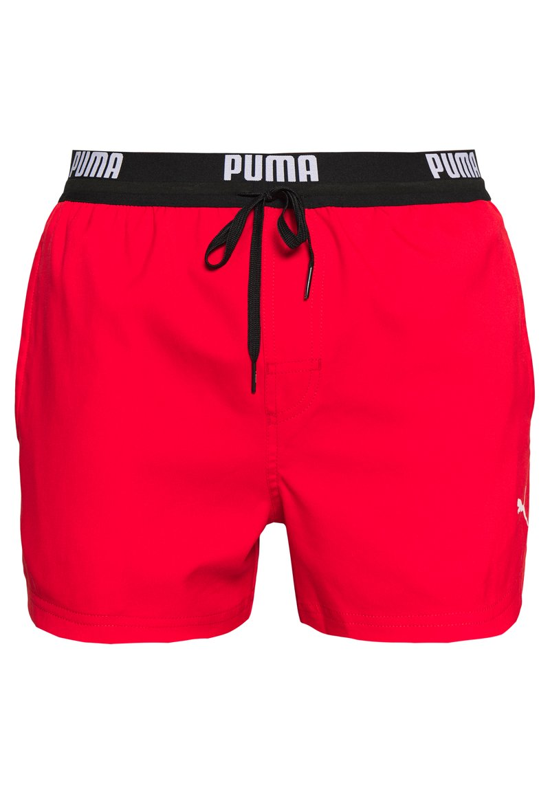 Puma - SWIM MEN LOGO SHORT LENGTH - Swimming shorts - red