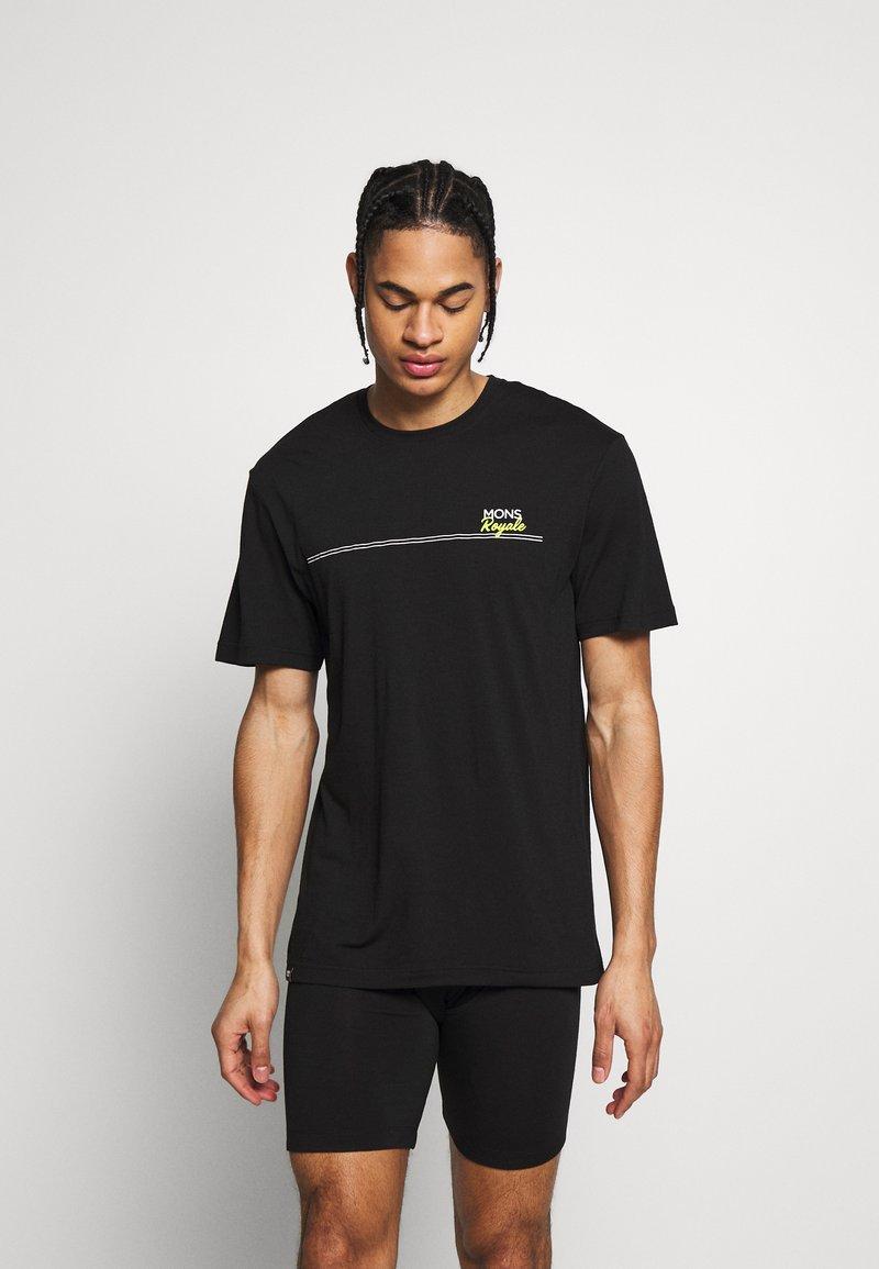 Mons Royale - TARN FREERIDE - T-Shirt print - black