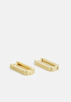 LINEAR LONG LINK EARRINGS - Earrings - pale gold-coloured