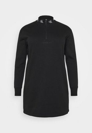 LOGO TRIM - Day dress - black