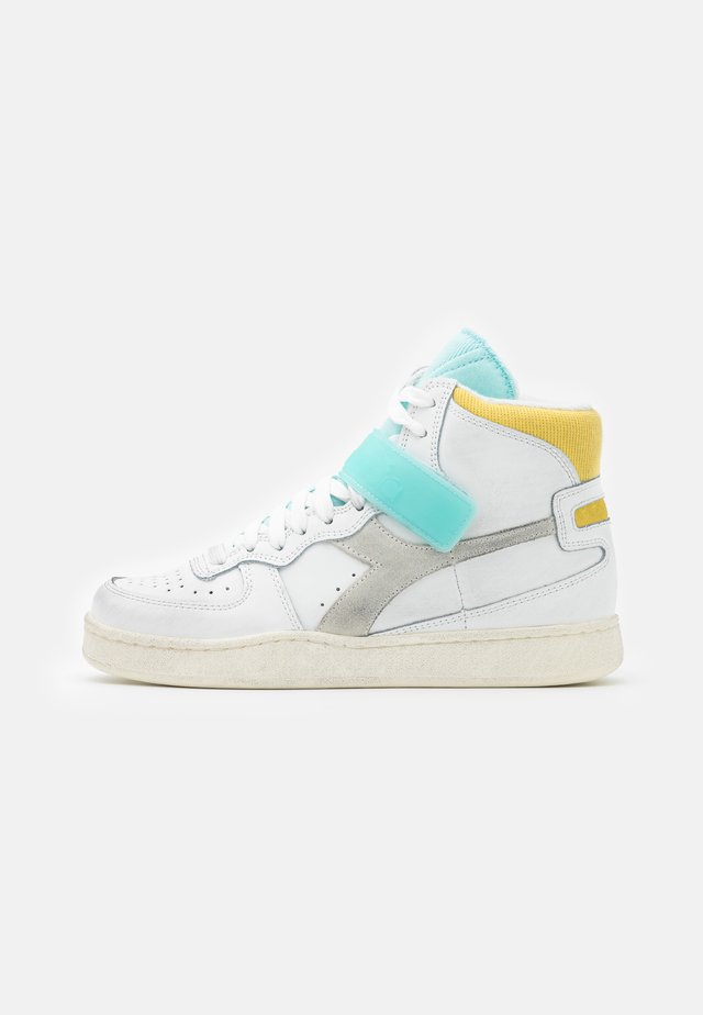 MI BASKET MID ICONA - Sneakers hoog - white/gold finch/blue tint