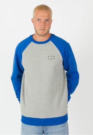 Sweatshirt - cement heather / victoria blue