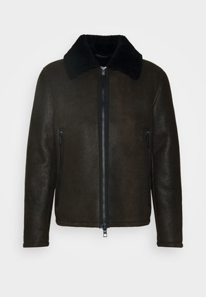 COLJA - Leather jacket - brown