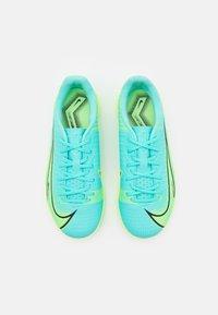 Nike Performance - JR MERCURIAL VAPOR 14 ACADEMY TF UNISEX - Astro turf trainers - dynamic turq/lime glow - 3
