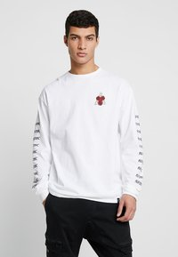 HUF - BONES AND ROSES TEE - Long sleeved top - white - 0