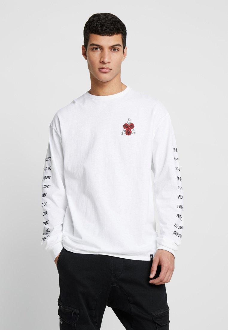 HUF - BONES AND ROSES TEE - Long sleeved top - white