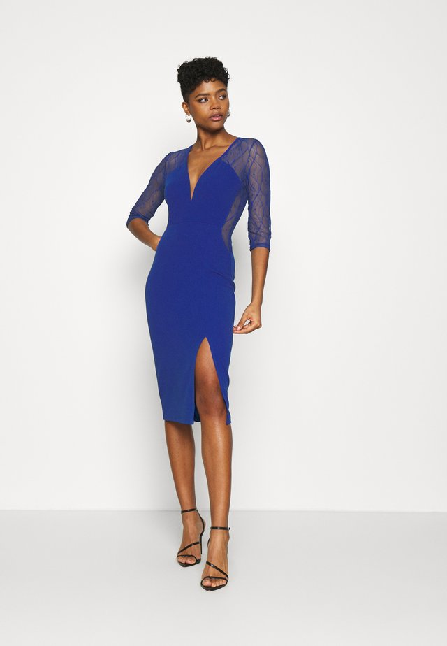 MAISIE SLEEVE MIDI DRESS - Sukienka koktajlowa - electric blue