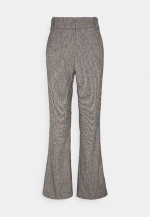 VERDII BOOTCUT PANT - Kalhoty - black / white