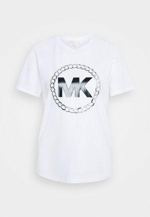 CHAIN LOGO - Print T-shirt - white
