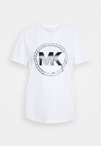 CHAIN LOGO - Camiseta estampada - white