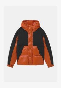 Save the duck - LUMAY - Winter jacket - black/ginger orange - 0