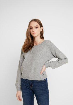 TWIST BACK - Jumper - light grey