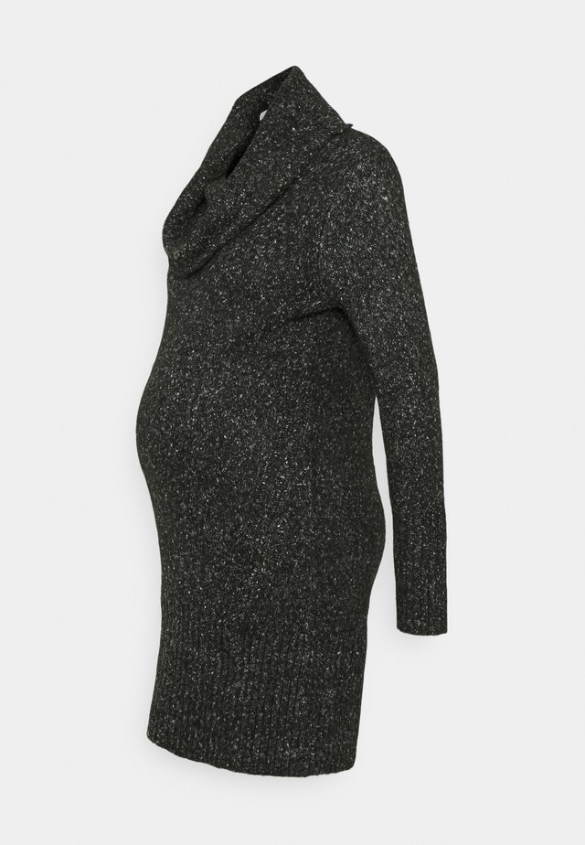 COWL NECK DRESS - Jumper dress - black