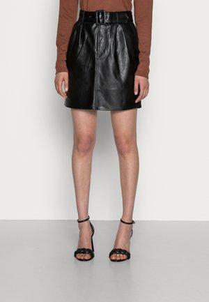 RAY SKIRT - Mini skirt - black