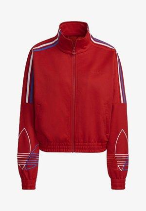 Zip-up sweatshirt - red