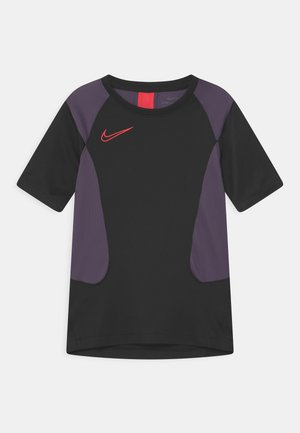 ACADEMY UNISEX - T-shirt imprimé - black/dark raisin/siren red