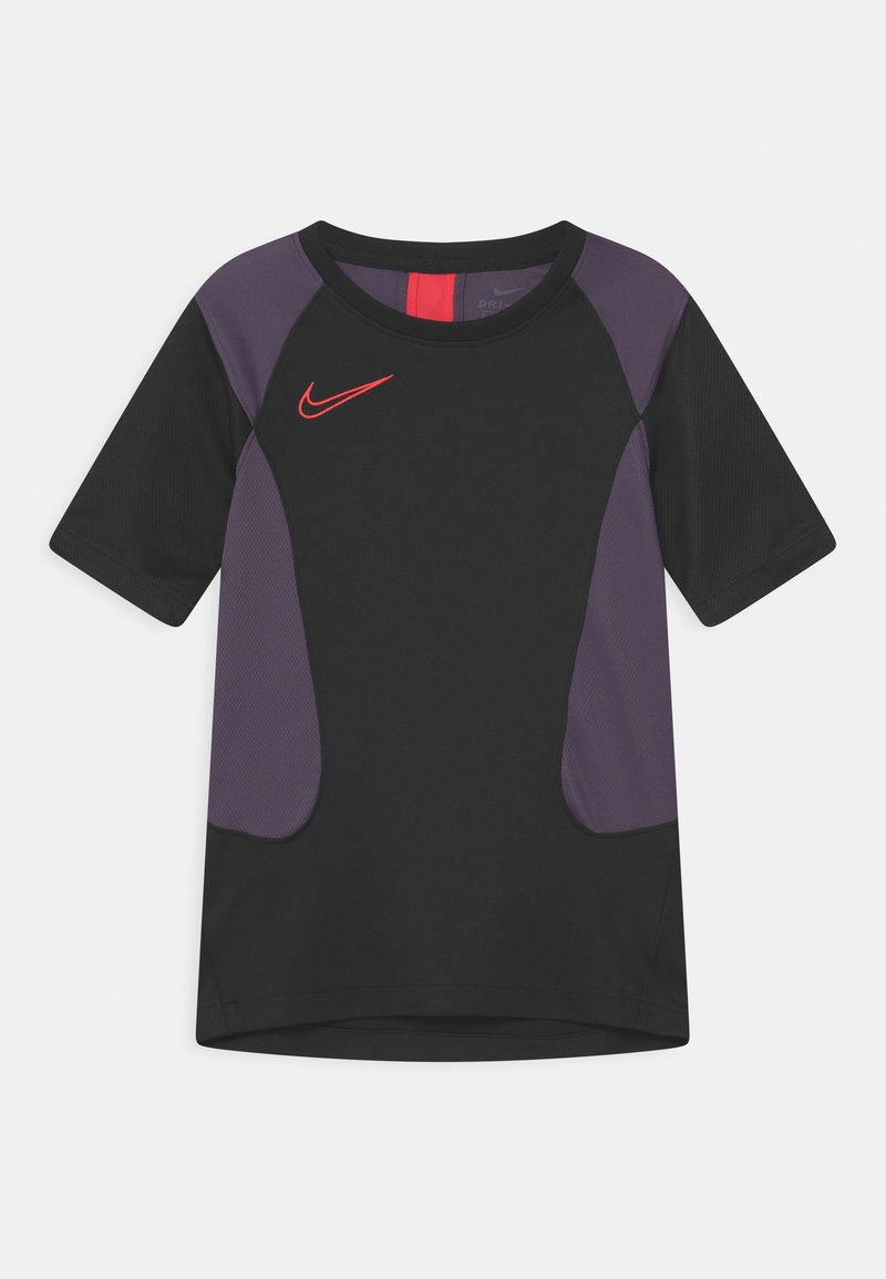 Nike Performance - ACADEMY UNISEX - Triko spotiskem - black/dark raisin/siren red