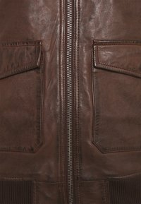 Alpha Industries - G1 LEATHER JACKET - Leather jacket - brown - 3