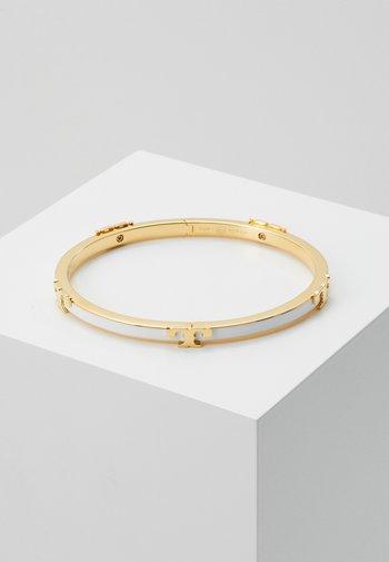 SERIF STACKABLE BRACELET - Bracciale - gold-coloured/optic white