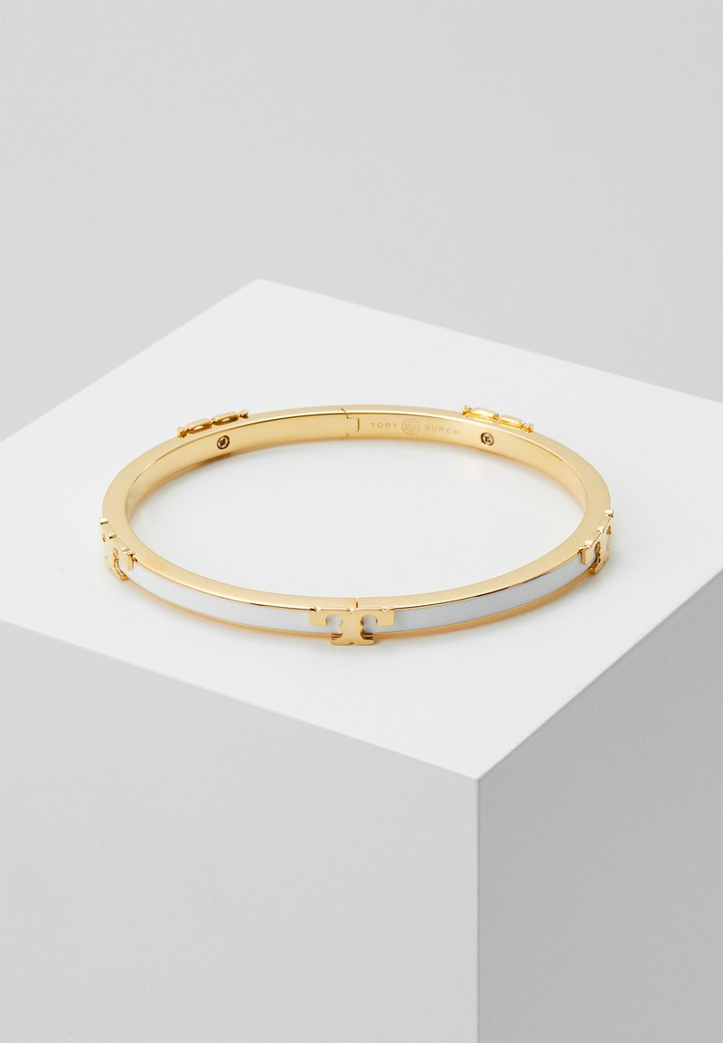 Tory Burch - SERIF STACKABLE BRACELET - Armband - gold-coloured/optic white