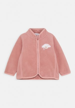 Fleece jacket - dunkelrosa