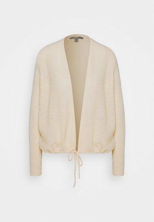 TIE CARDI - Cardigan - cream beige