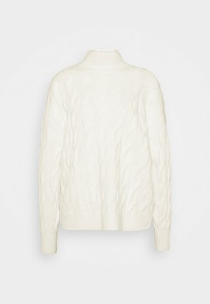 JAC CABLE SLOUCHY - Jumper - ivory frost