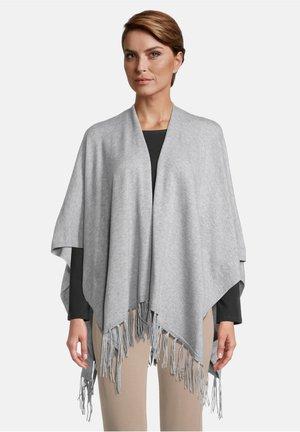 Poncho - grey melange
