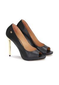 Kazar - TERRY - Peeptoe heels - black - 1