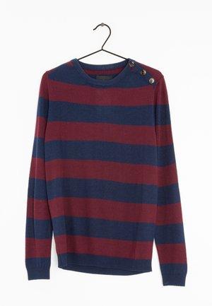 Stickad tröja - blue/red
